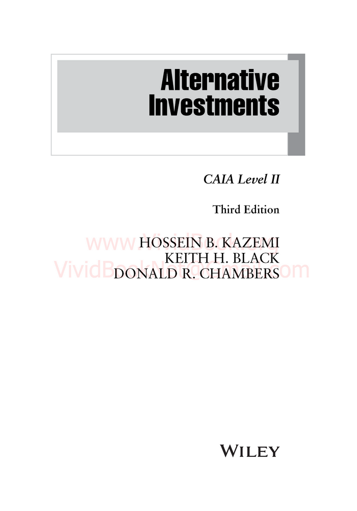 alternative investments caia level i 3rd edition pdf
